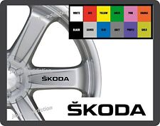 For SKODA  8 x Alloy Wheel - CAR DECAL STICKER - FABIA OCTAVIA SUPERB 95mm long