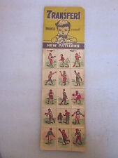 1950's era Baseball water decal transfers 12 sheets of 15 images made in Germany