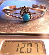 NAVAJO STERLING SILVER AND SLEEPING BEAUTY TURQUOISE  BRACELET