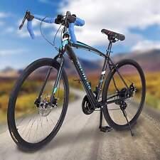Mens 49.5cm High-carbon Steel Road Bike Racing 700C Bicycle 21 Speed Ancheer Hot