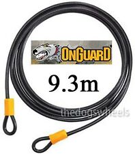 OnGuard 9.3m 10mm Extension Flexible Steel Security Cable Lock MTB Bicycle Bike