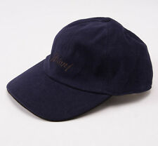 NWT $495 BRIONI Navy Blue Twill Logo Baseball Hat Cap Leather Details