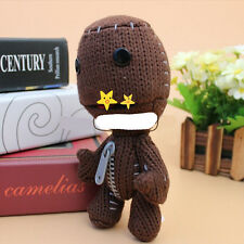 Sackboy Brown Knitted Stuffed Animal Doll Plush Figure Toys Baby Birthday Gift