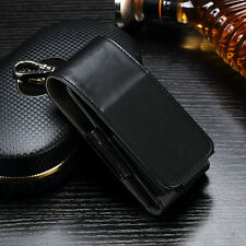 Magnetic PU Leather Case Holster for IQOS Electronic Cigarette - Black