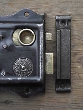 1 Victorian Vintage Style Cast Iron Rimlock Door Keep lock knobs door pine pull