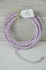 Twisted Cloth Covered Electrical Cord Wire LENGTH BY FOOT Lavender Lamp Cord