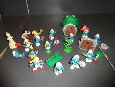 Vintage Schleich Smurfs Smurf 14 Figure Lot