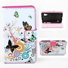 Magnetic Cash Wallet PU Leather Stand Cover Case For LG Optimus L5 II Dual E455
