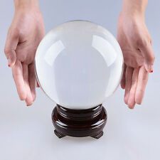 LONGWIN Crystal Ball Photography /Display Crystal Ball with Wooden Stand 150mm