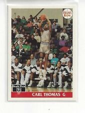 1991 FRONT ROW  BASKETBALL ITALIAN PROMO CARD INSERT CARL THOMAS #NNO E MICHIGAN