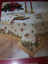 HOMEWEAR HOLIDAY BERRY 60 X 120 OBLONG TABLECLOTH New In Pkg MSRP $100