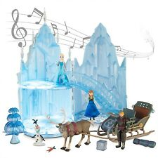 SINGING disney Frozen Musical LIGHT UP Castle Play Set Elsa Anna figurine dolls