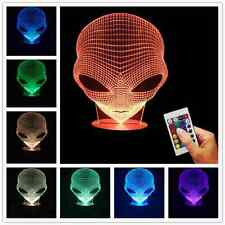 Pop-eyed Alien Shape 3D Handmade Acrylic Lamp USB Color Changing LED Night Light