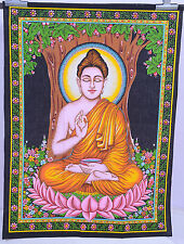 Indian Hand Paint Buddha Yoga Tapestry Wall hanging bedspread Table cloth 40*30