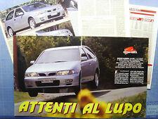 AUTO996-RITAGLIO/CLIPPING/NEWS-1996-NISSAN ALMERA 2.0 GTi- 5 fogli