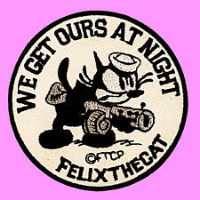 Felix The Cat We Get Ours At Night Cartoon Kids Embroidered Iron On Patch