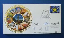 BENHAM 1992 SINGLE EUROPEAN MARKET FDC MULTI SIGNED BY FIVE : LONDON SW1 SHS