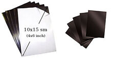 5 sheets of magnetic vinyl for making refrigerator magnets - 10x15 cm (4x6 in.)