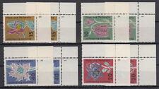 1963 Flora u. Philatelie Mi. 392-95 ** Formnummer 1 und 2  Luxus!