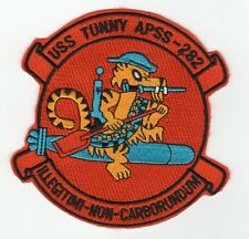 USS Tunny APSS 282 - Tiger Riding Torpedo BC Patch Cat No C5285