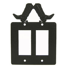 Cowboy Boot Double Rocker Light Switch Plate Cover