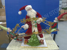 "Frontgate Mark Roberts Christmas Holiday See Saw Santa Elves Decor 25"" Moving"