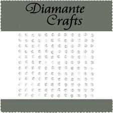 144 x 4mm Clear Diamante Stars Self Adhesive Rhinestone Body Art Vajazzle Gems