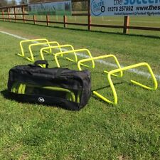 "Set of 6 Agility Hurdles 9"" with Carry Bag - Football Speed & Agility Training"