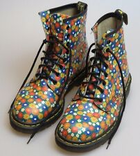 DOC DR. MARTENS Rare Made In England Floral Daisy Boots Women's UK 8 US 10