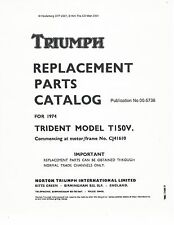 Triumph Parts Manual Book 1974 Trident T150V From serial number CJ41610