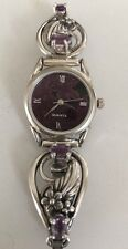 Native American Amethyst  Watch Tips Sterling Silver, Women's  Watch