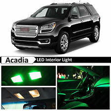 14x Green Interior LED Lights Package Kit for 2008-2015 GMC Acadia + TOOL
