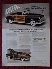 1994 Print Ad Danbury Mint Diecast Car Replica ~ 1948 Chrysler Town & Country