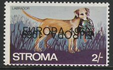GB Locals - Stroma (1032) 1969 EUROPA opt DOUBLED, one INVERTED on DOGS 2s u/m