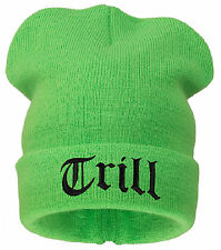 WOOLLY BEANIE HAT TRILL EASY  BAD HAIR DAY MEOW LOVER HATS SNOWBOARD SNAPBACK