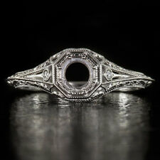 ART DECO DIAMOND G VS PLATINUM ENGAGEMENT RING SETTING VINTAGE FILIGREE COCKTAIL
