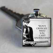 Bob Dylan Keyring Lyrics Keyring Bob Dylan Handmade in the UK by Dandan Designs