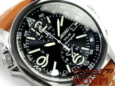 SEIKO Pilot Chronograph SSC081P1 Solar Powered Alarm Energia Solare Tough Solar