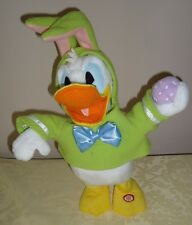 Hallmark DONALD DUCK Easter Bunny Rabbit animated motion singing 13""