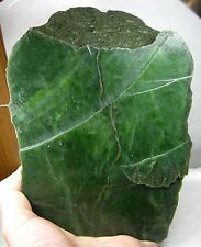 2095g BC Canada 100% Natural Raw Rough Green Jade Block Slab Specimen 4 lb 10oz
