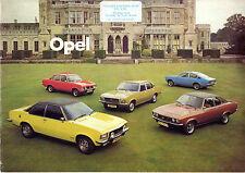 Opel 1974-75 UK Market Brochure Kadett C Ascona A Manta A Rekord D Commodore B