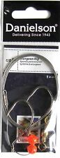 5  Danielson Sturgeon Rig Two Hook Leaders 6/0 with 36 inch Wire & Barrel Swivel