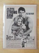 ARNOLD SCHWARZENEGGER bodybuilding muscle STRONG ARM advertisement ephemera ad