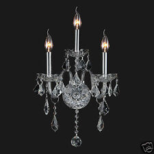 "USA BRAND Provence Venetian Italian 3 Light Crystal Candle Wall Sconce 13"" x 18"""