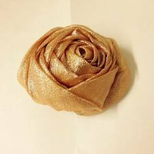 GOLD ORGANZA ROSE FOR CHAIR COVERS  WEDDING  PARTY CHRISTMAS DECORATION