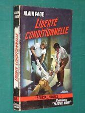 """Liberté conditionnelle Alain PAGE """"Fleuve Noir"""" spécial police 153 EO"""