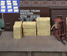 #H040 HO Plaster Wood Crates 12pcs HOn3 Produits MP diorama Caisse de bois