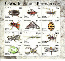 Cook Islands 2013 MNH Entomology Definitive Part 1 12v M/S Insects Beetles Moth