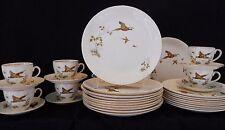 1930's Art Deco  Alfred Meakin 32 pce part dinner & tea set , Pheasants pattern