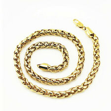 Mens Jewellery 18 k Gold Plated Necklace for Men Chunky Chain Wide 7 mm N297